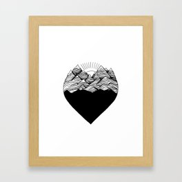 Heart is buried Framed Art Print