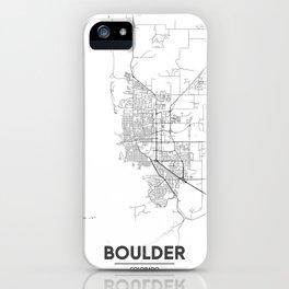 Minimal City Maps - Map Of Boulder, Colorado, United States iPhone Case