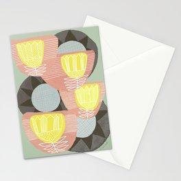Big Flowers on Sage Stationery Cards