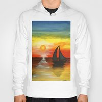 tequila Hoodies featuring Tequila Sunset by William Gushue
