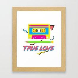 80s True Love Framed Art Print