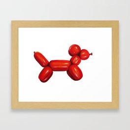 Red Balloon Dog Framed Art Print