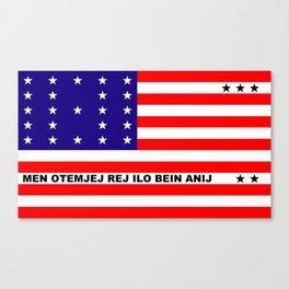 Bikini Atoll flag Canvas Print
