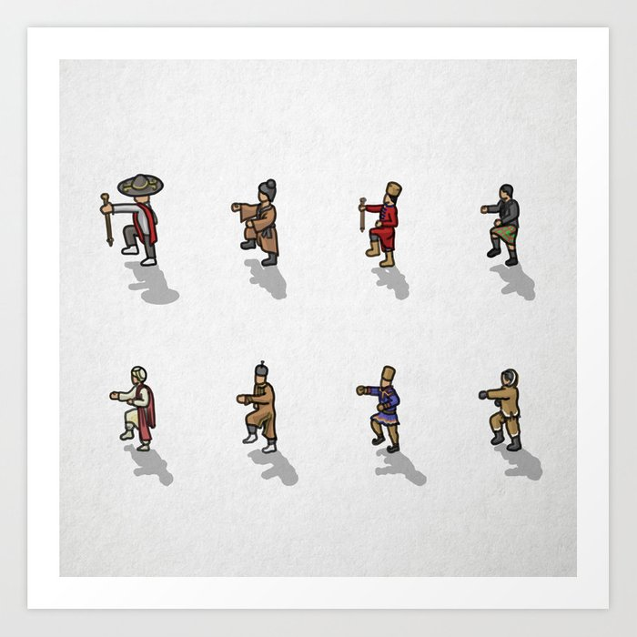 Many peoples in one direction Art Print