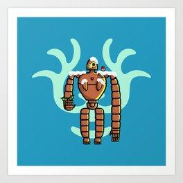 Christmas Laputa Robot Art Print