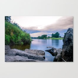 Long Exposure Photo of The River Tay in Perth Scotland Canvas Print