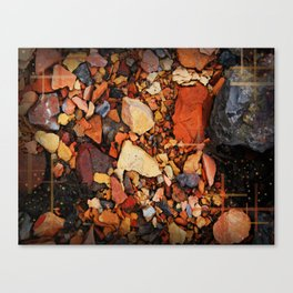 the walk through the colored stones Canvas Print