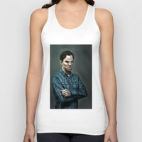 cumberbatch Tank Tops featuring Intense Cumberbatch. by IntroFlect Studios