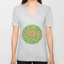 Colour Blindness Eye Unisex V-Neck