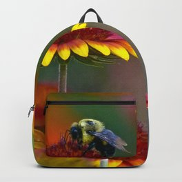 Bee on Gaillardia Backpack