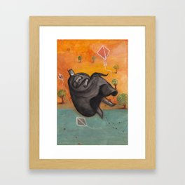 Caped Crusader Dreams of Kites Framed Art Print