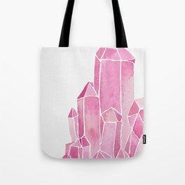 Rose Quartz Watercolor Tote Bag