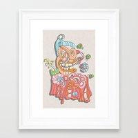 wreck it ralph Framed Art Prints featuring ralph by bugtrainer