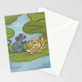 Mouse Lily Pad Stationery Cards