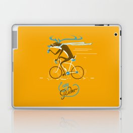 Easy Rider // (cycling hipster deer) Laptop & iPad Skin