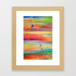 Acrylic Abstract Paint Splatter Framed Art Print