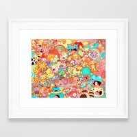 kpop Framed Art Prints featuring Wackoblast! by Sillyrabs