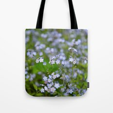 Forget-me-not Close up Tote Bag