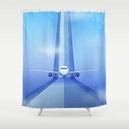 Destination: Dreamland Shower Curtain