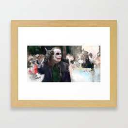 The Party Crasher - A Joke From The Clown Prince Framed Art Print