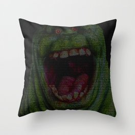 Slimer: Ghostbusters Screenplay Print Throw Pillow