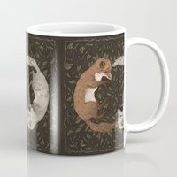 foxes Mugs featuring Foxes by Jessica Roux