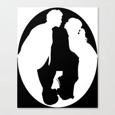 Pushing Daisies silhouette kiss Canvas Print