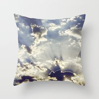 oslo Throw Pillows featuring Oslo Sky  by Håkon Jørgensen