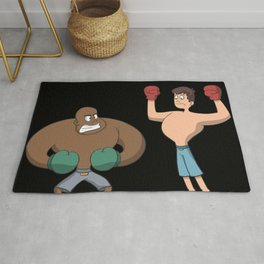 Boxer looking angry Rug