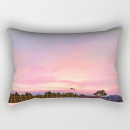 Rose Quartz and Serenity Landscape Rectangular Pillow