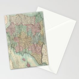Vintage Map of Spain and Portugal (1801) Stationery Cards