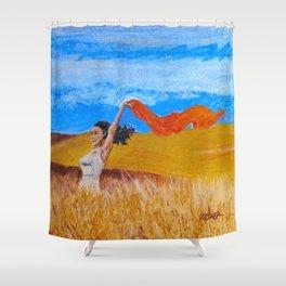 Field Frolic Shower Curtain