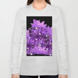 AWESOME PURPLE AMETHYST CRYSTAL CLUSTER Long Sleeve T-shirt