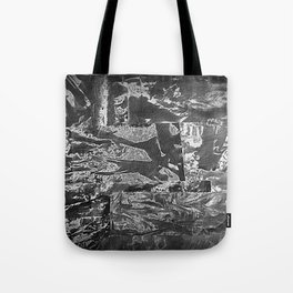 Black and White Abstract - Negative Style Random Pattern Tote Bag