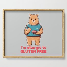 I'm allergic of gluten free Serving Tray
