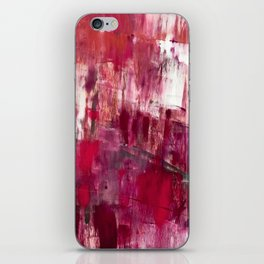 Sunset in the Valley [2]: a colorful abstract piece in reds, pink, gold, gray, and white iPhone Skin