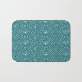 Vintage Art Deco pattern- Blue dot dot dot Bath Mat