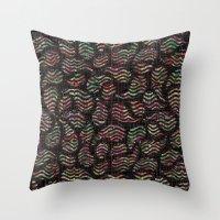 disco Throw Pillows featuring disco by Mindaugas Patapas