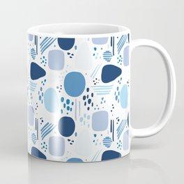 Blue Pattern -  Modern Art Coffee Mug
