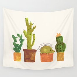 Hedgehog and Cactus (incognito) Wall Tapestry