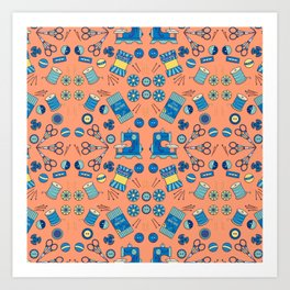 Kaleidoscope of Sewing Notions Art Print