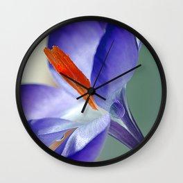 Crocuses(4). Wall Clock
