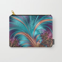 BLUE FEATHERS FRACTAL Carry-All Pouch