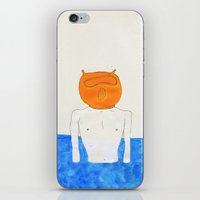 diver iPhone & iPod Skins featuring diver by Maybe Mary