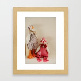 Mr.Goose and Mrs.Goose Framed Art Print