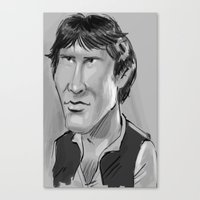 han solo Canvas Prints featuring Han Solo  by Garabatostudios