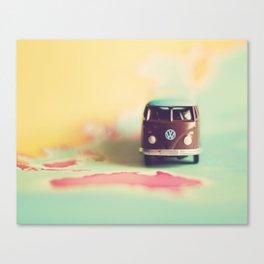 Vintage Camper Down Under Canvas Print