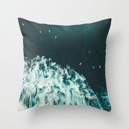 WAVES - OCEAN - SEA - WATER - COAST - PHOTOGRAPHY Throw Pillow