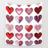 valentine Wall Tapestries featuring Valentine by chloeeegee