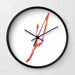 Keuka Lake Watercolor-Orange and Pink Wall Clock